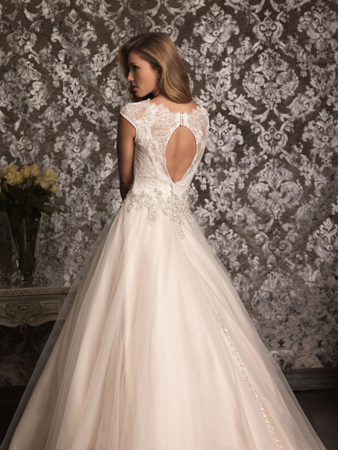 lace back wedding dress bridal gown allure bridals spring 2013