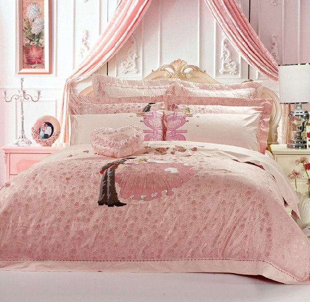 Brown And Pink Bedding