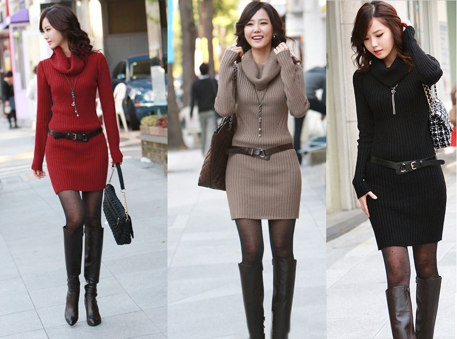 Unique and Fashionable Sweater Dresses For Women Collections ...